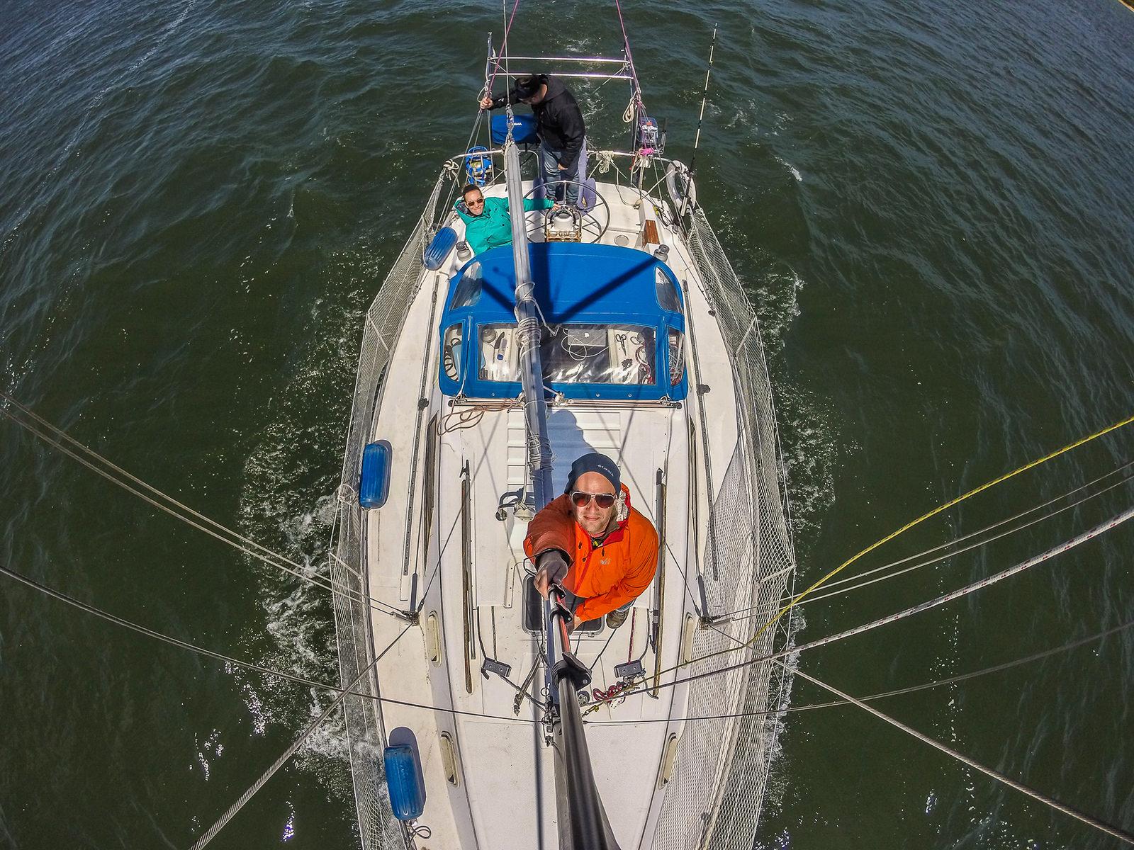 Selfie sur le fleuve St-Laurent