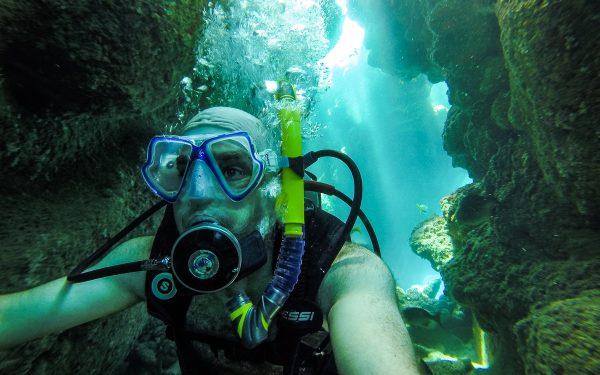 Selfie dans un tunnel, Jibacoa, Cuba