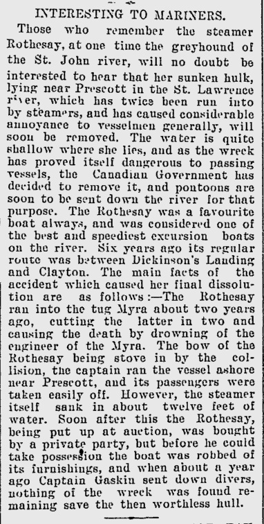 Toronto Daily Mail, Sept 26 1893