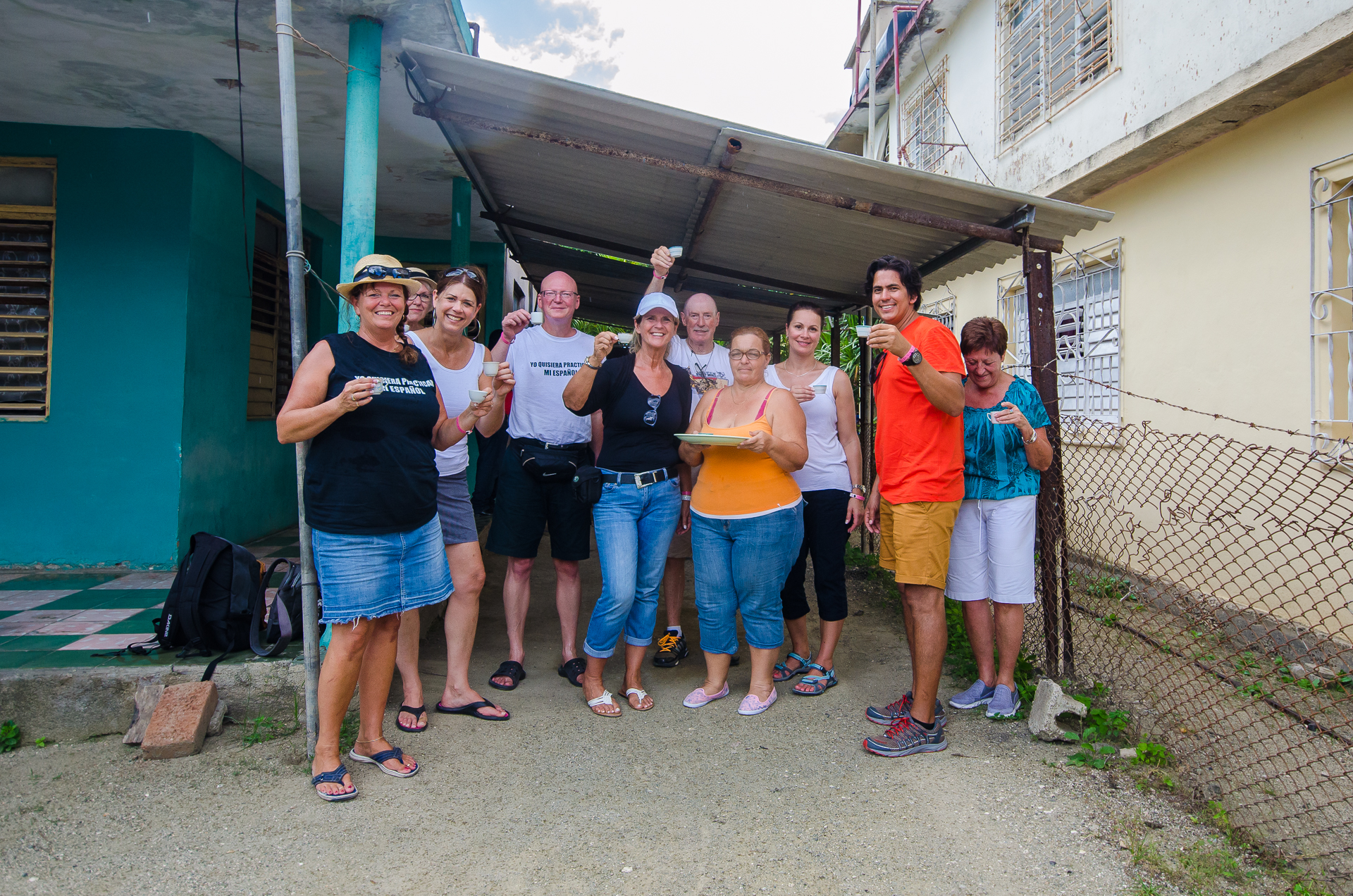 Café chez la famille de Carlos, Rafael Freyre, Holguin, Cuba
